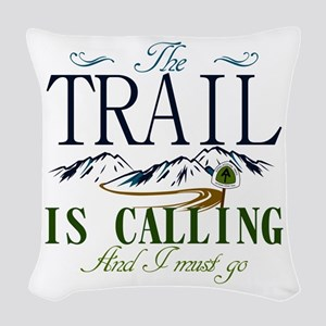 The Trail Is Calling [AT] Woven Throw Pillow